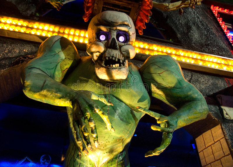 Monster. Horror monster shot taken in an amusement park in Vienna royalty free stock photography