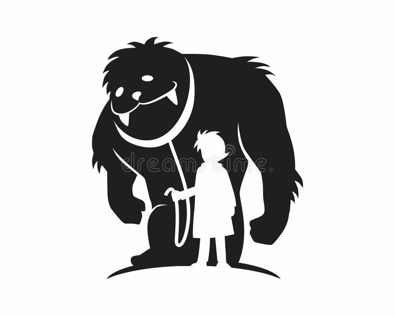 Download Monster beast silhouette stock vector. Image of silhouette - 66765725