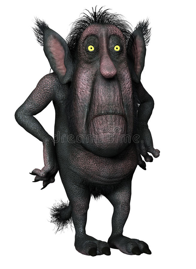 Monster With A Big Head Royalty Free Stock Photos