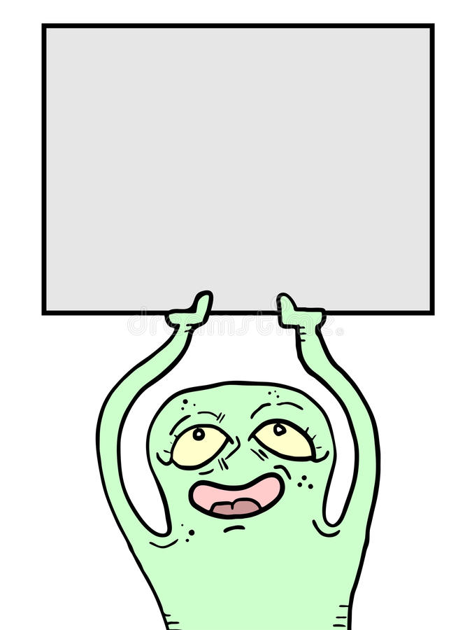 Download Monster card stock vector. Illustration of black, blank - 26747635