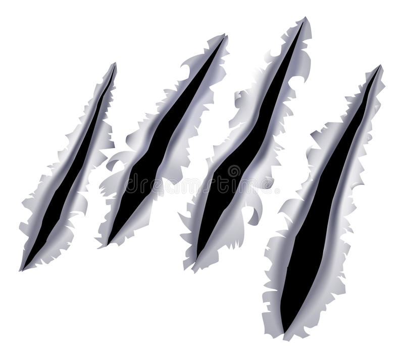 Monster claw scratch hole vector illustration