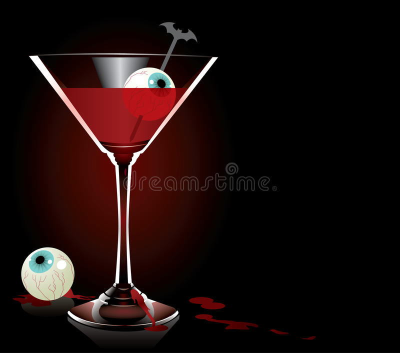 Monster Cocktail royalty free stock photos