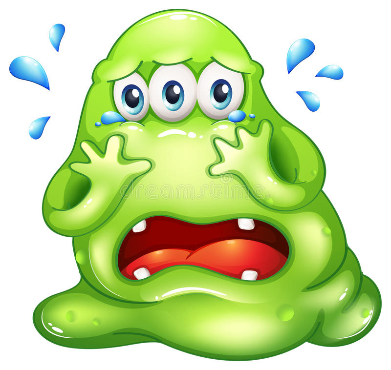 Download A monster crying stock vector. Image of crying, isolated - 33909245