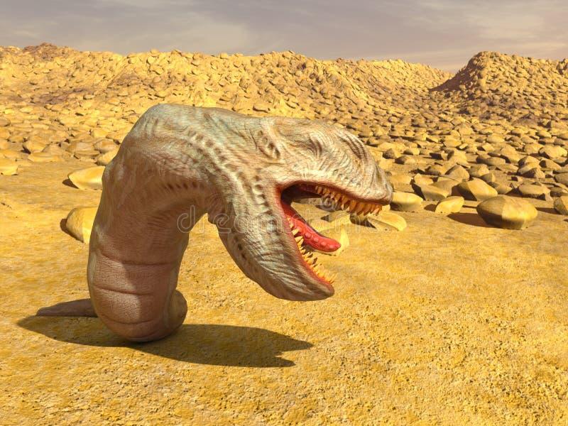 Monster. 3D CG rendering of a monster stock image