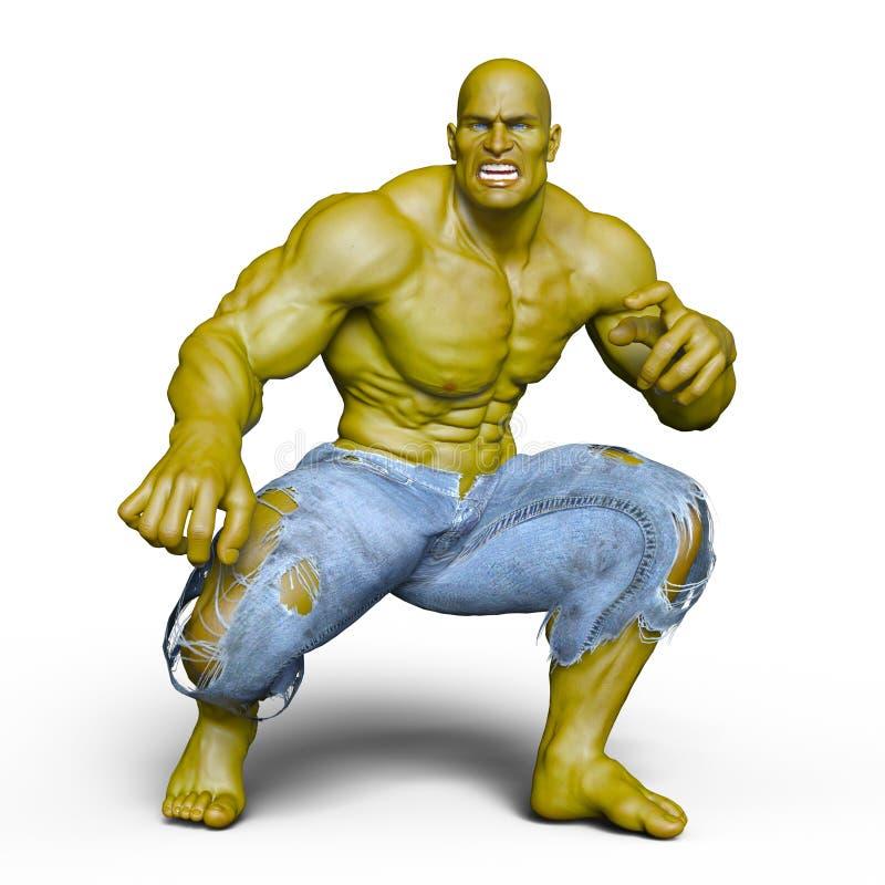 Monster. 3D CG rendering of a monster stock illustration