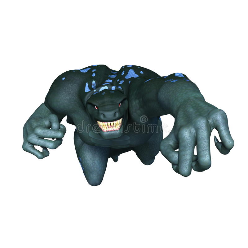 Monster. 3D CG rendering of a monster vector illustration