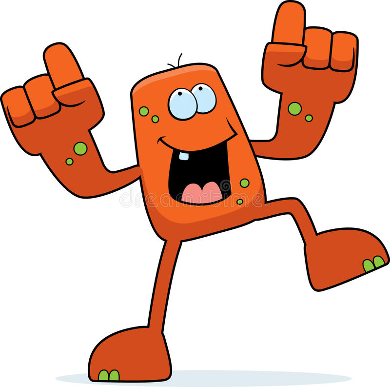 Monster Dancing vector illustration