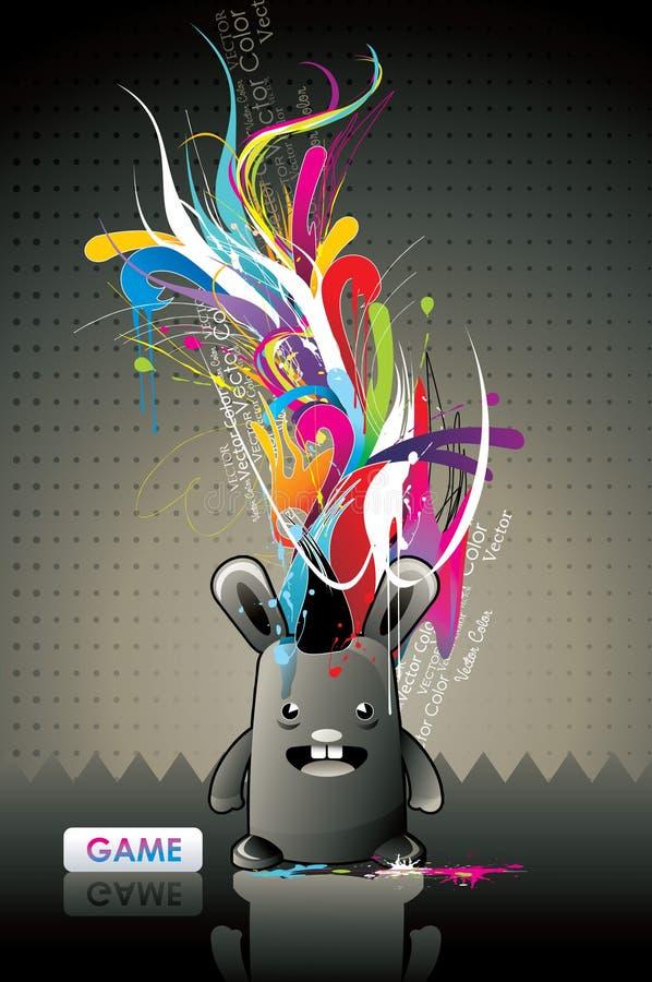 Monster dat kleuren eet vector illustratie