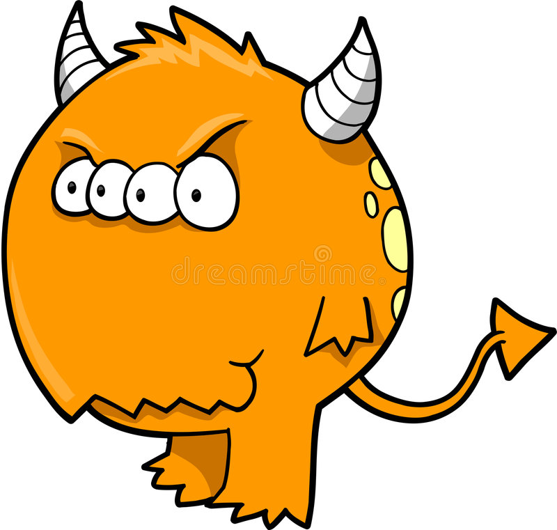 Download Monster Devil Vector stock vector. Image of monster, character - 5697195