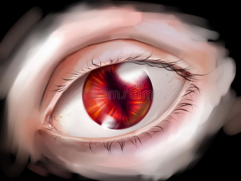 Download Monster eye with red iris stock photo. Image of blood - 40767568