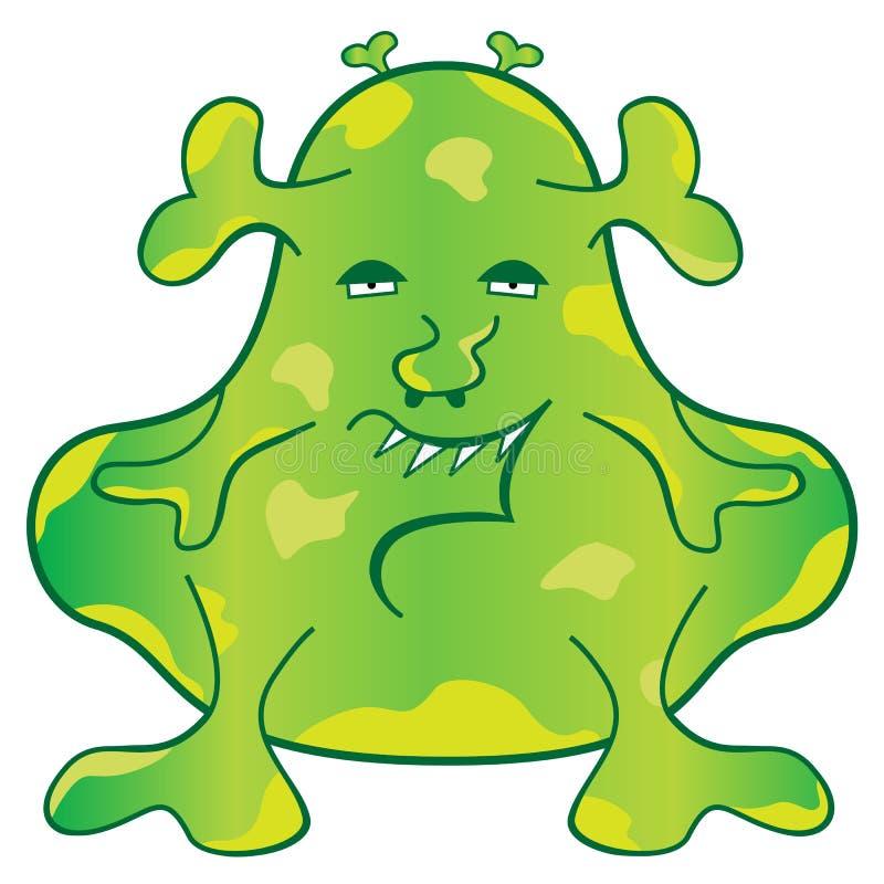 monster för tecknad filmteckengreen stock illustrationer