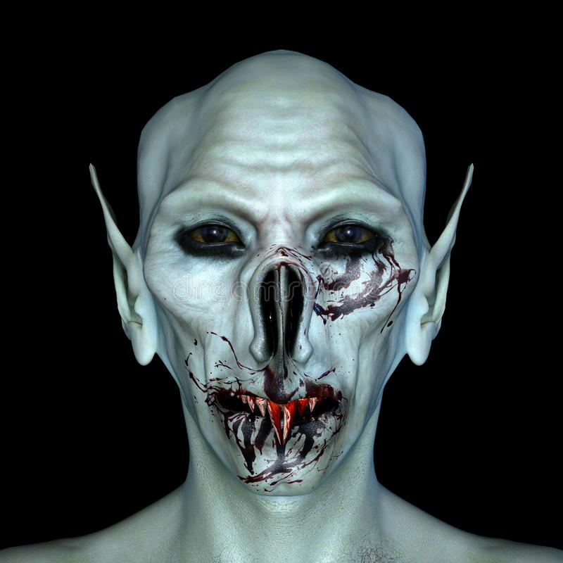 Monster face. 3D CG rendering of a monster face royalty free stock image