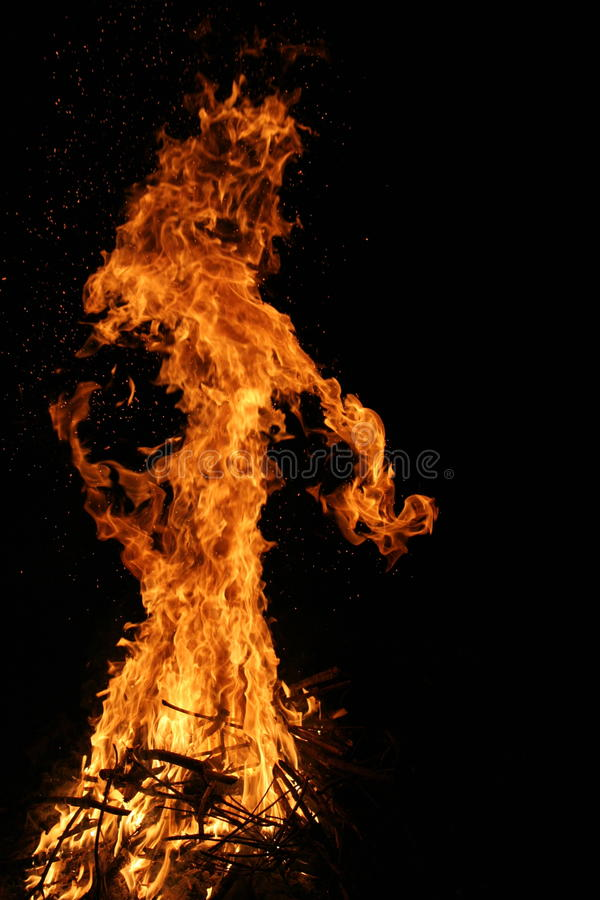 Monster in Fire and flame stock photo