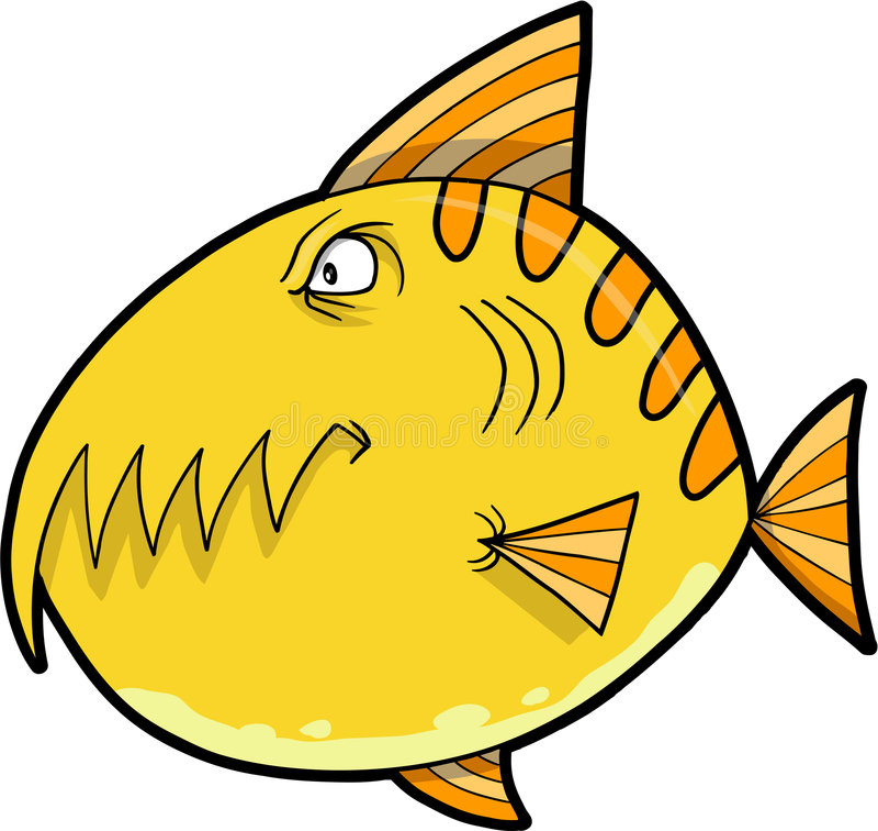 Monster Fish Vector vector illustration