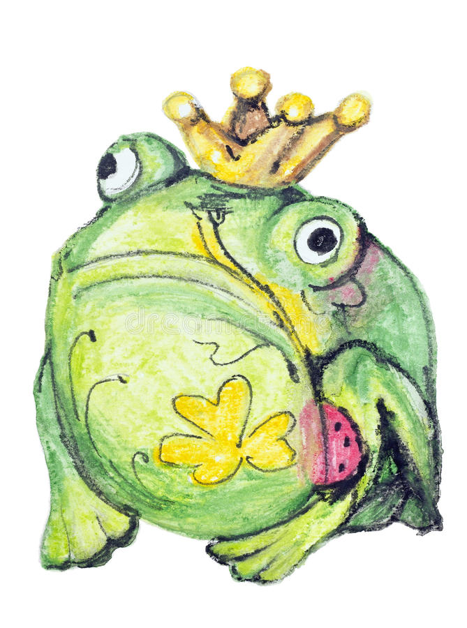 Download Monster Frog With Clover Tattoo Stock Illustration - Image: 31518203