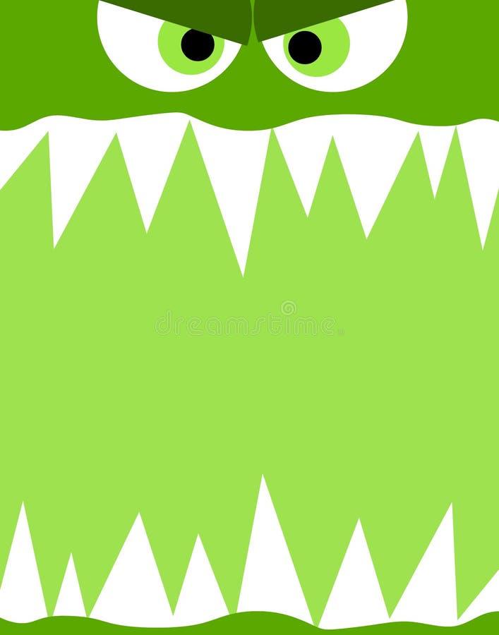Monster-Gesichts-Hintergrund stock abbildung