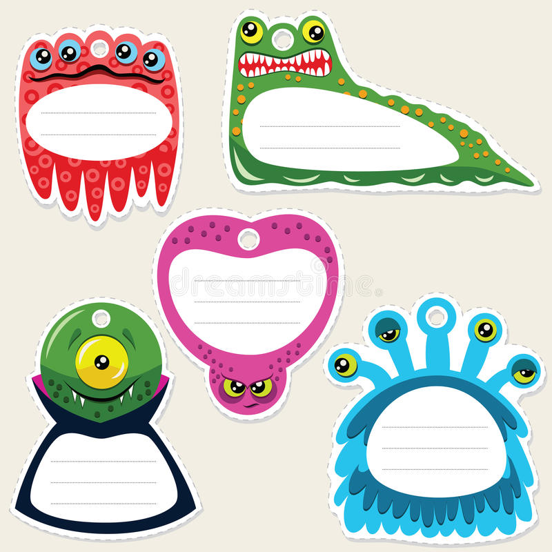 Download Monster gift tags stock vector. Illustration of halloween - 20673703