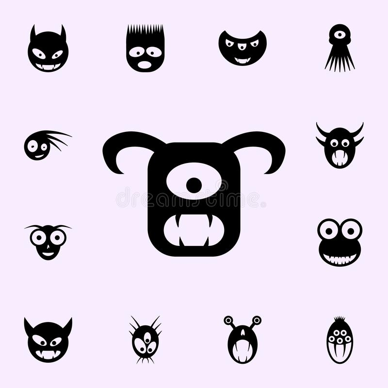 Monster icon. monsters icons universal set for web and mobile. On color background royalty free illustration