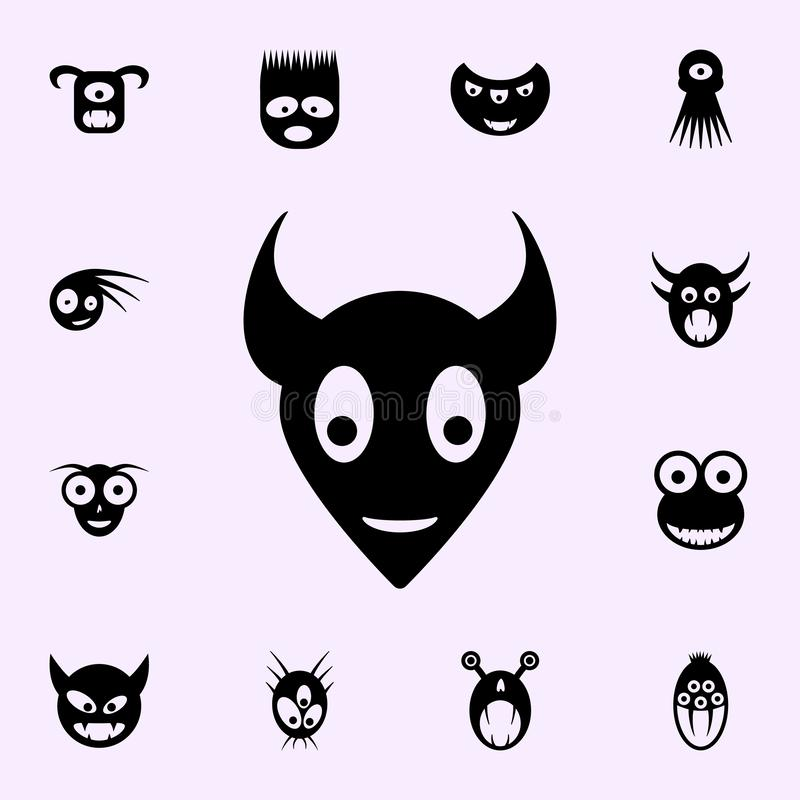 Monster icon. monsters icons universal set for web and mobile. On color background stock illustration