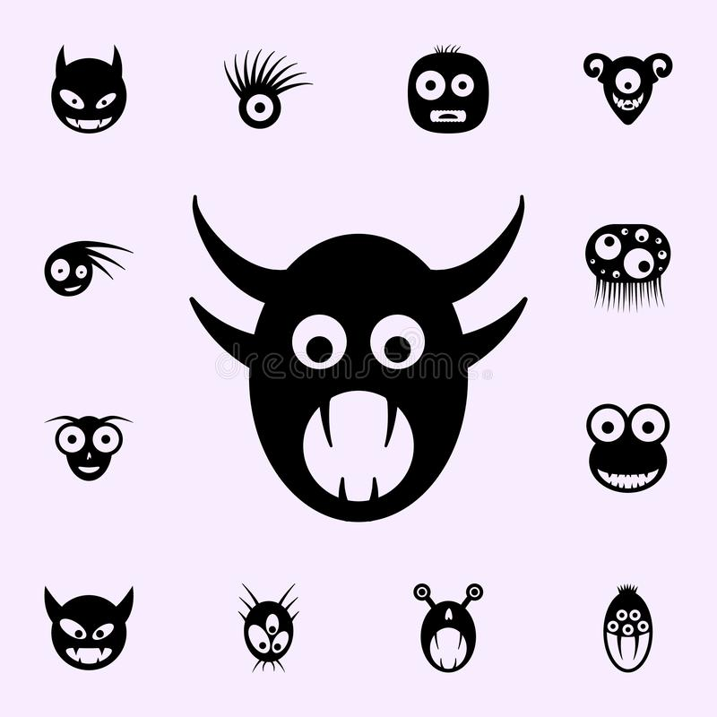 Monster icon. monsters icons universal set for web and mobile. On color background vector illustration