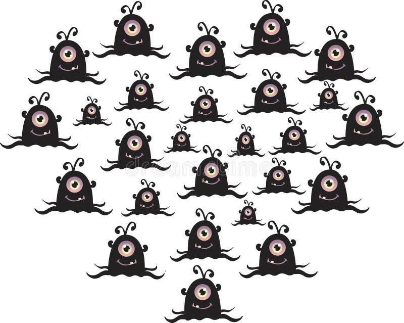 Monster illustration stock images