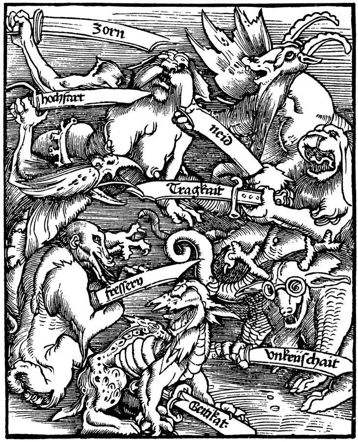 Monster illustrations stock photo