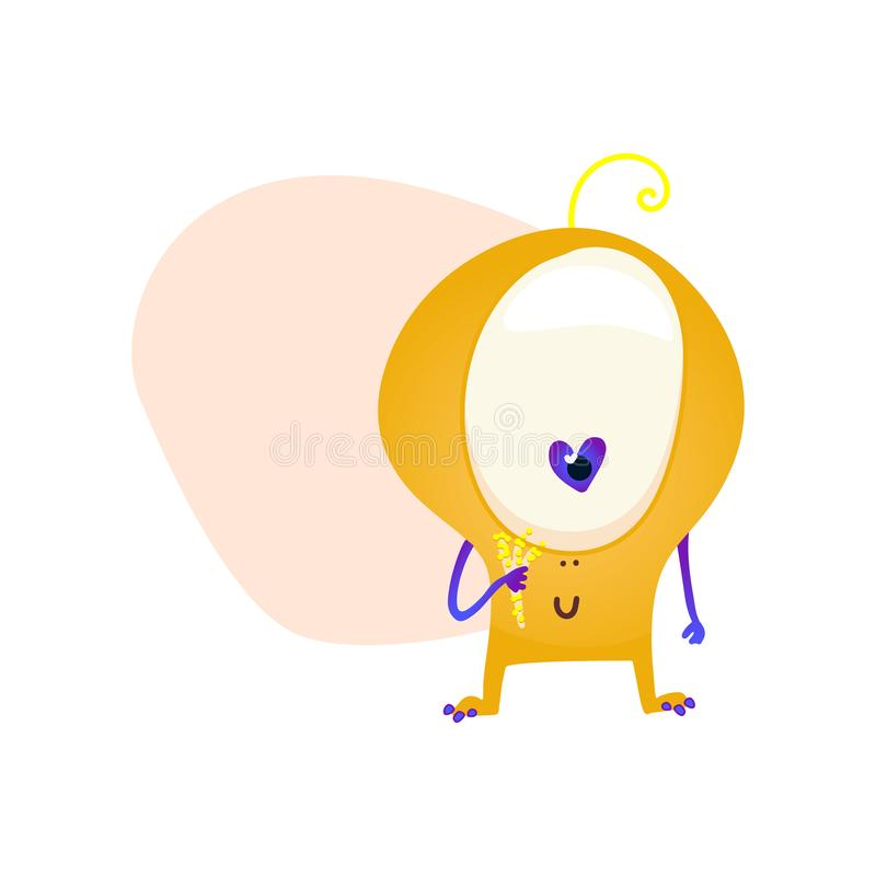 Monster isolated on white. Cartoon Monsters collection. Design for print, party decoration, t-shirt, illustration stock illustration