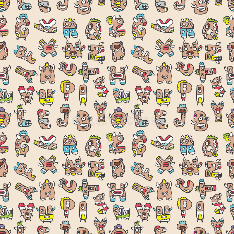 Download Monster Letters Seamless Pattern Royalty Free Stock Photos - Image: 16795358