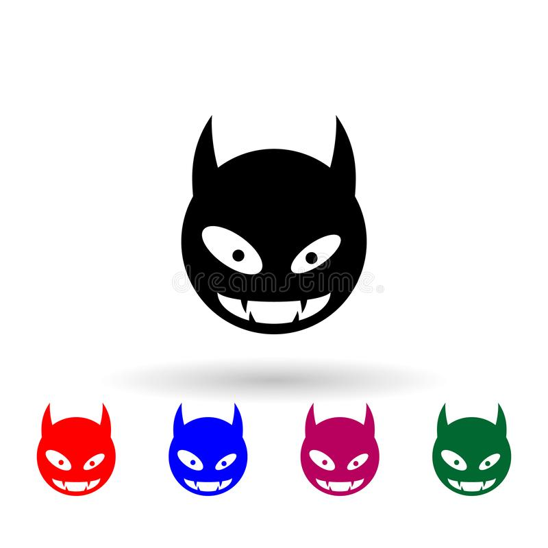 Monster-Mehrfarbensymbol Einfache Briyph, eine Flage von Monstern-Icons für i und ux, Webseiten oder mobile Anwendungen stock abbildung