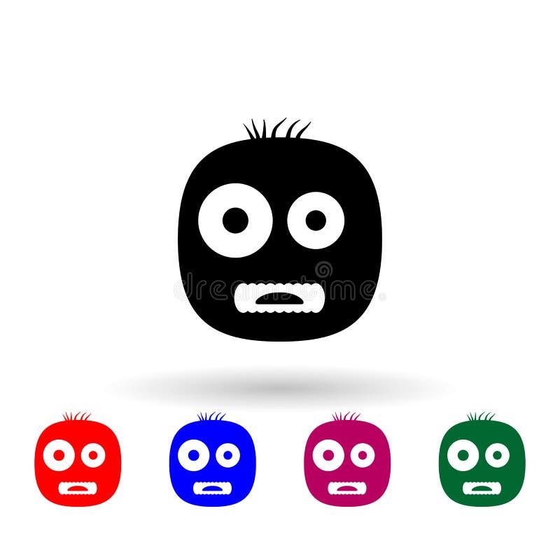 Monster-Mehrfarbensymbol Einfache Briyph, eine Flage von Monstern-Icons für i und ux, Webseiten oder mobile Anwendungen lizenzfreie abbildung