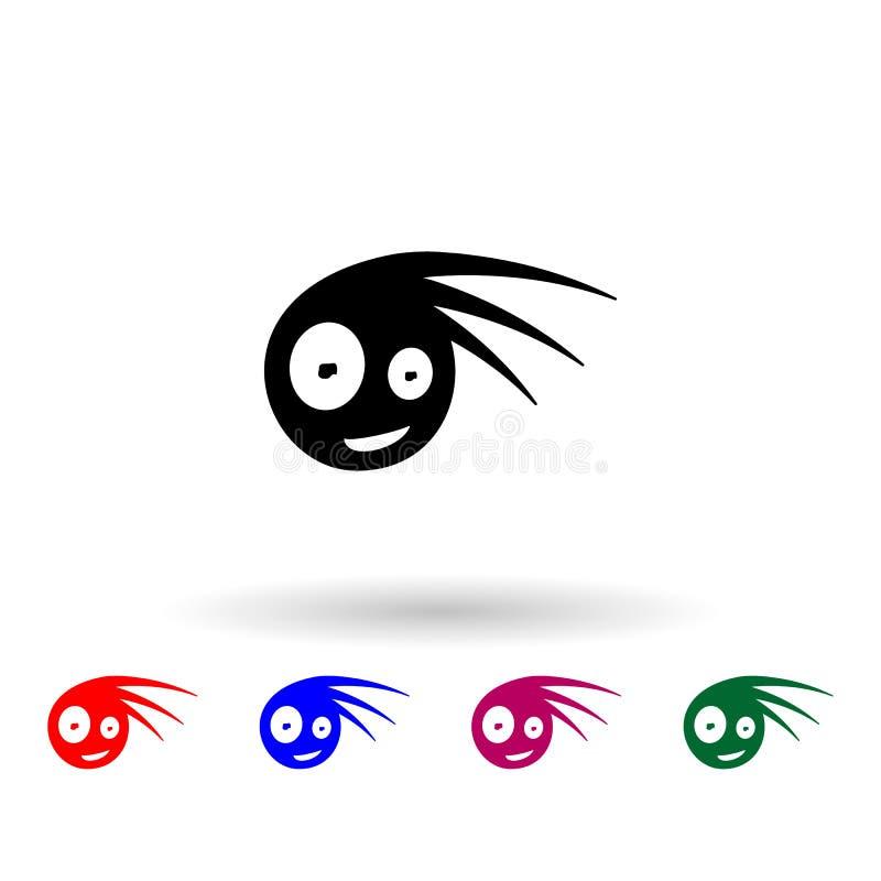 Monster-Mehrfarbensymbol Einfache Briyph, eine Flage von Monstern-Icons für i und ux, Webseiten oder mobile Anwendungen vektor abbildung