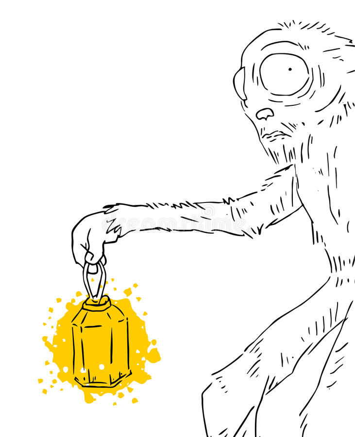 Monster mit alter Kerze vektor abbildung