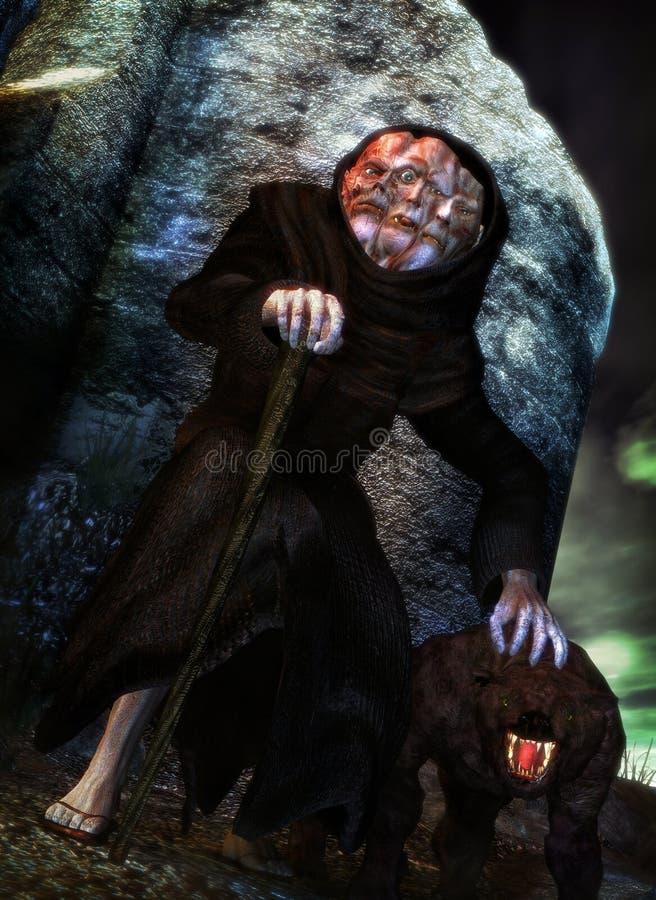 Monster monk vector illustration
