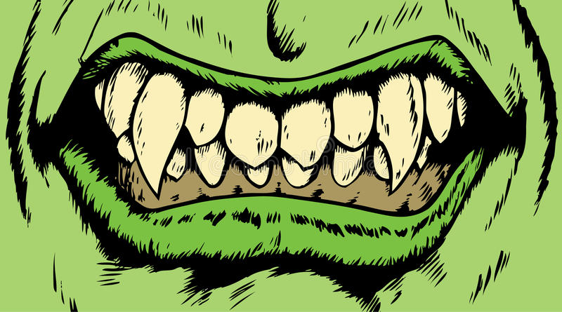Monster mouth royalty free illustration