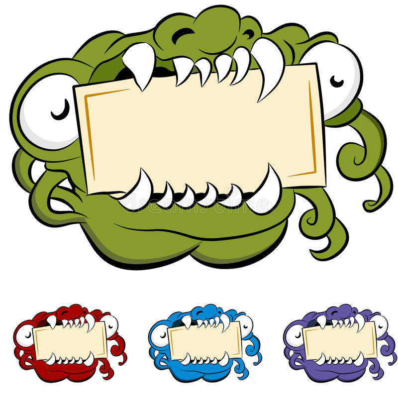 Download Monster Mouth Sign stock vector. Illustration of illustration - 20043838