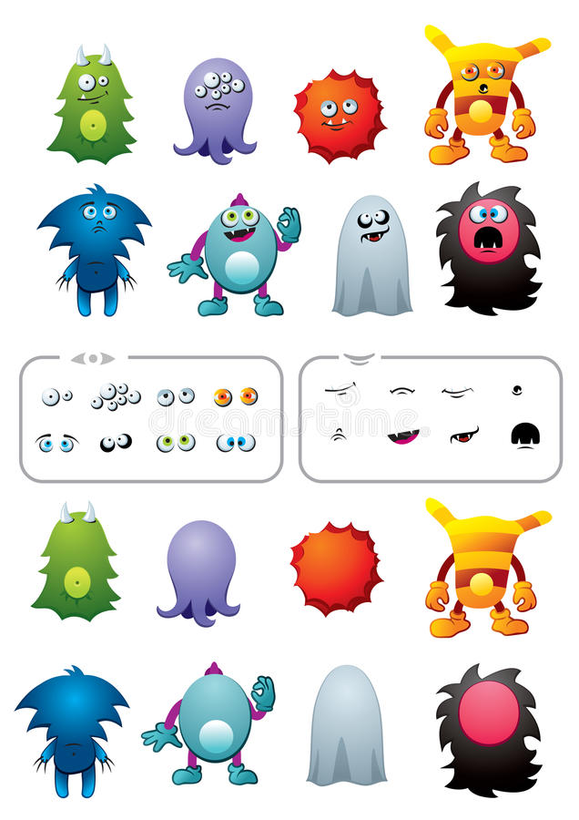 Download Monster pack stock vector. Image of spooky, cartoon, body - 25945713
