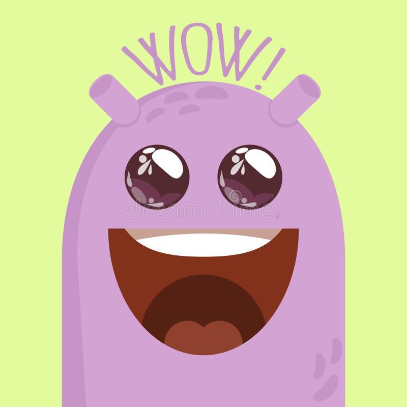 Monster party card design. vector illustration royalty free illustration