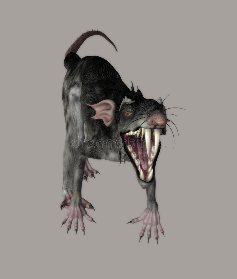 Monster Rat Royalty Free Stock Photo