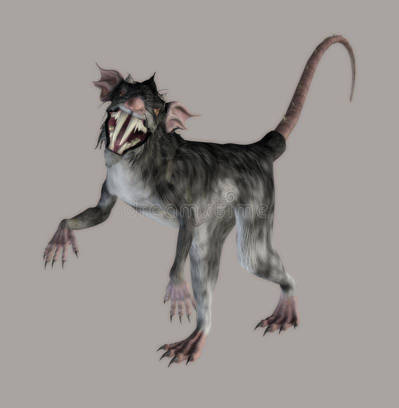 Download Monster Rat stock illustration. Image of devil, pose, evil - 4678829