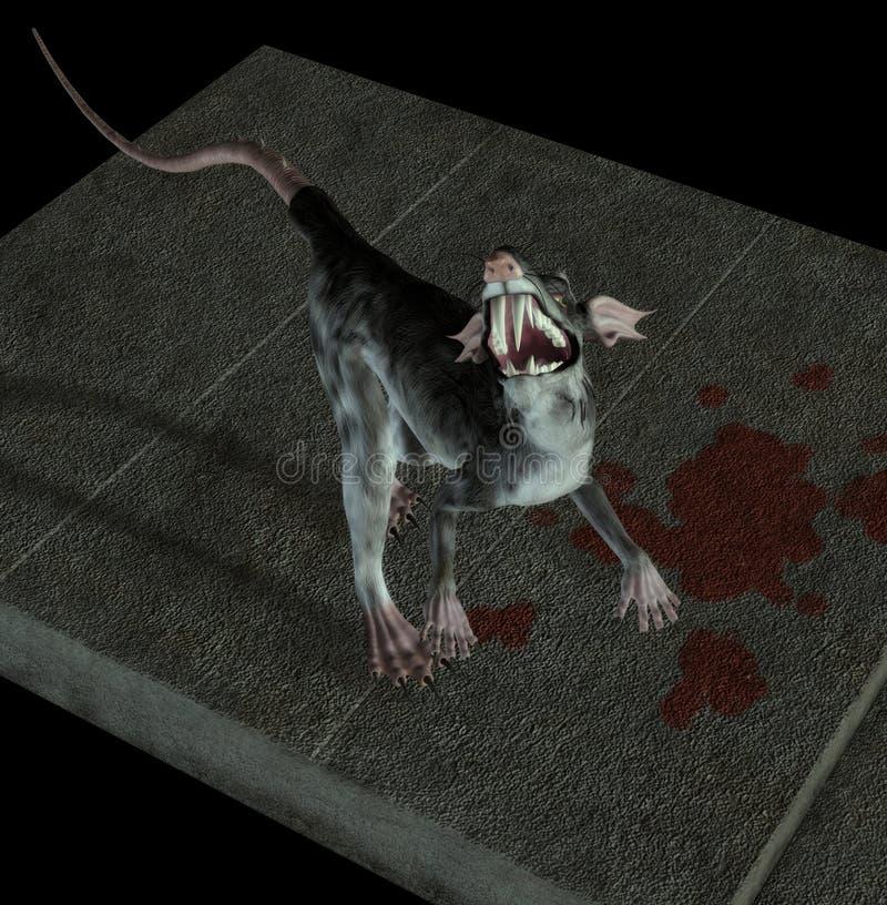 Download Monster Rat stock illustration. Image of creature, manipulation - 4678834