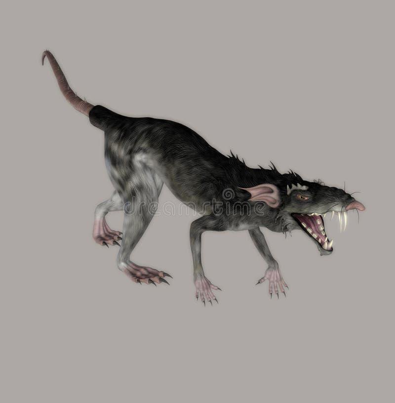 Monster-Ratte lizenzfreie abbildung