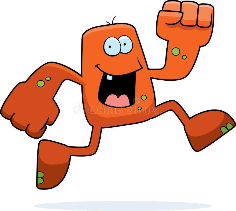 Monster Running vector illustration