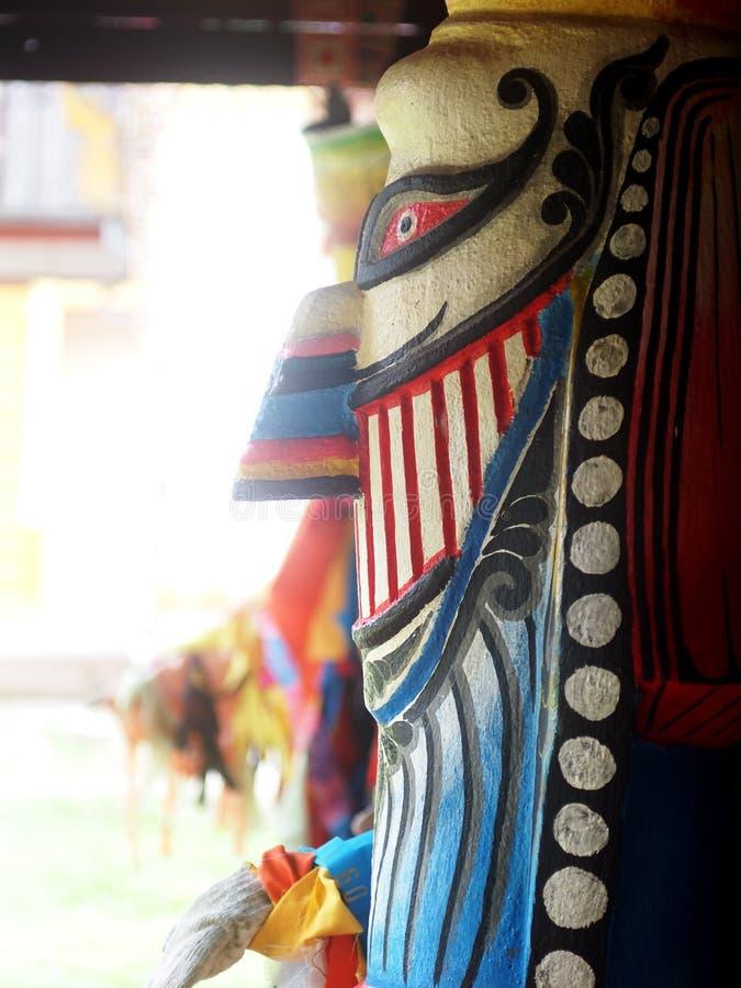 Monster sculpture masks show at PHI-TA-KHON folklore folk art museum royalty free stock image