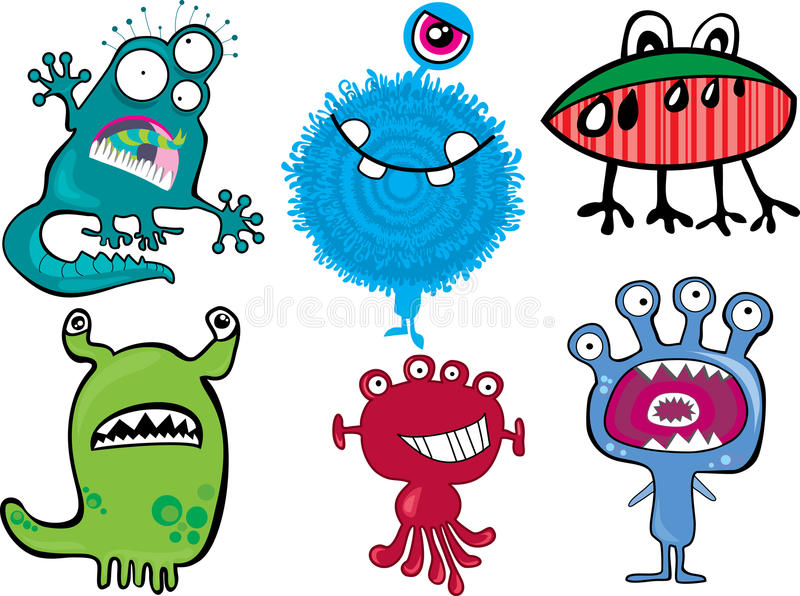 Download Monster Set stock vector. Image of collection, alien - 20726973