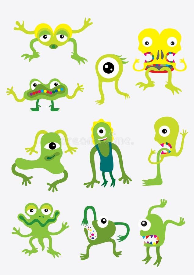 Monster set. Art vector illustration royalty free illustration