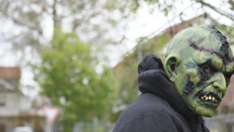 Monster on the street royalty free stock photos