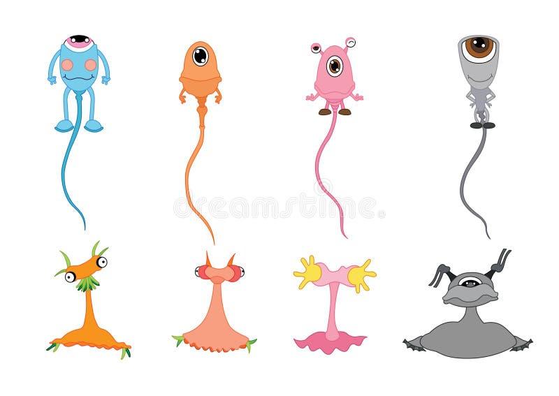 Monster-tekenontwerp op witte achtergrond royalty-vrije illustratie