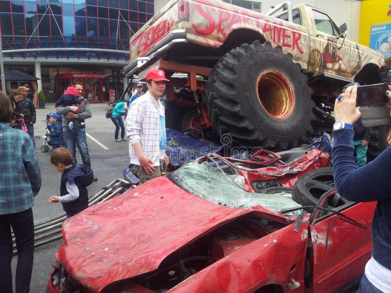 Monster truck fotografia de stock