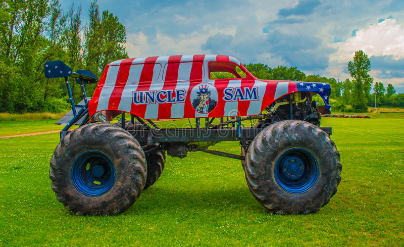 Monster truck americano imagens de stock
