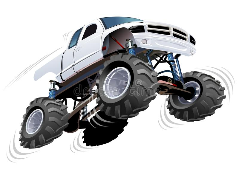 Monster Truck. Available EPS-10 separated by groups and layers with transparency effects for one-click repaint stock illustration